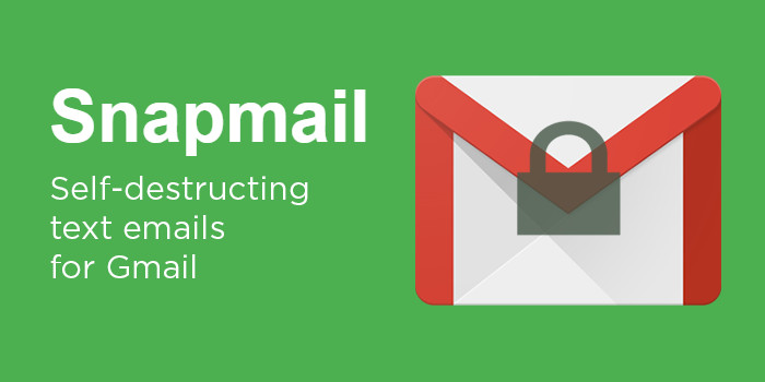 Self-destructing Emails from Snapmail